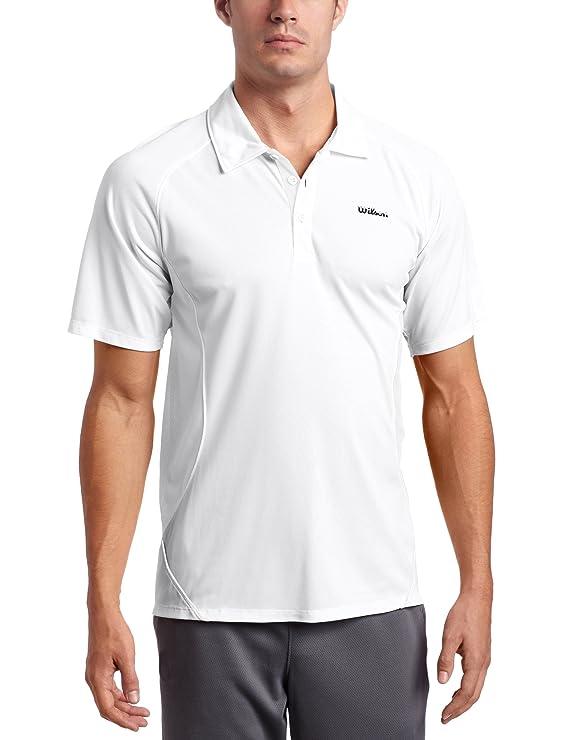 Wilson Polo - Polo de Tenis para Hombre, tamaño XL, Color Blanco ...