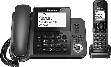 Comprar Panasonic KX-TF310 - Teléfono Fijo Inalámbrico con Supletorio Portátil (2 en 1, LCD, Teclas Grandes, Agenda de 100 Números, Bloqueo de Llamadas, Modo ECO, Reducción Ruido, Manos Libres) Color Negro