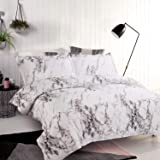 Bedsure Duvet Cover Set with Zipper Closure-Printed Marble Design,Twin (68x90 inches)-2 Pieces (1 Duvet Cover + 1 Pillow…