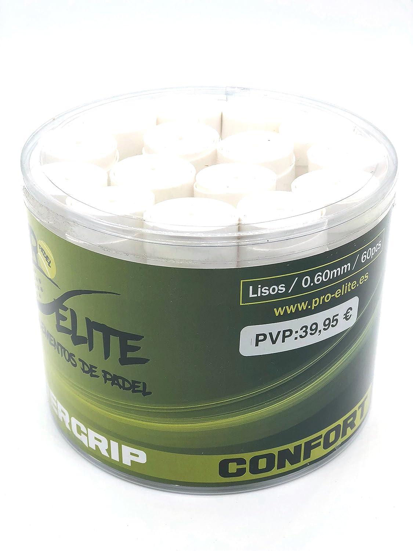 overgrips Pro Elite Confort Lisos. Bote de 60 unds. (Blanco ...