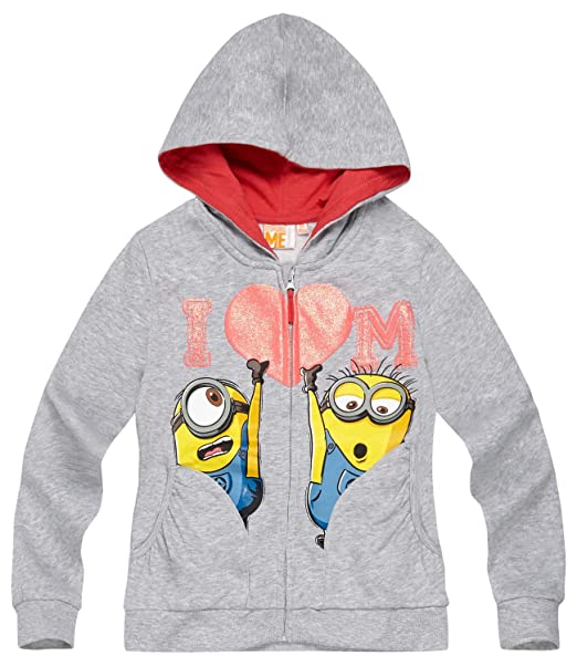 Minions Despicable Me Chicas Chaqueta sudadera con capucha 2016 Collection - Gris: Amazon.es: Ropa y accesorios