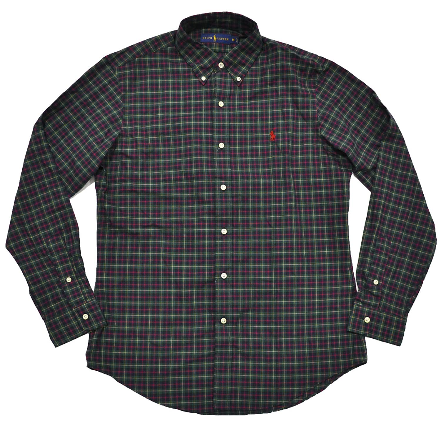 9fa2c2d9 Polo Ralph Lauren Men's Plaid Poplin Sport Shirt (X-Large, Green Red ...
