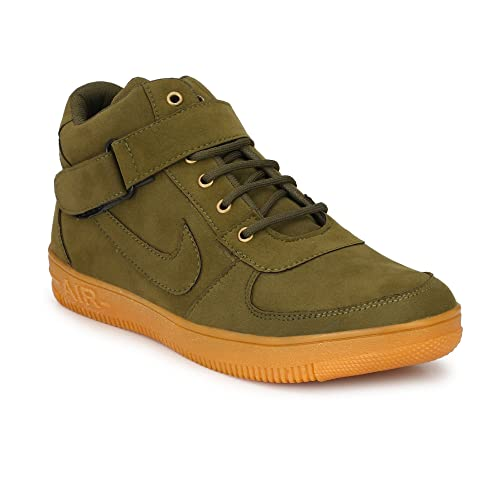 2e3b835c290d Dev Shoes Stylish Men s High Ankle Black and Green Casual Shoe ...