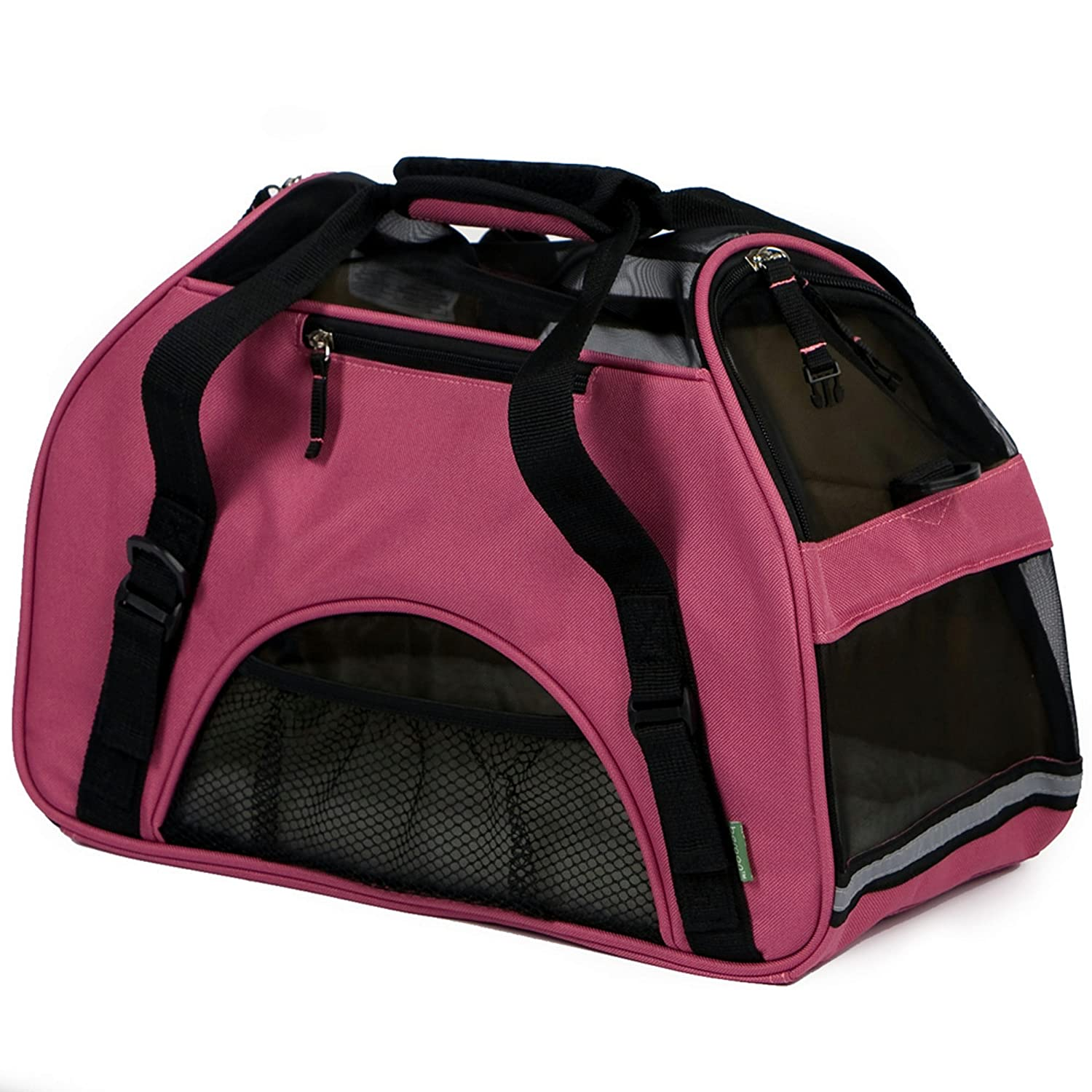 pink Wine SmallBergan 88042 Small Comfort Carrier Soft Sided Pet Carrier, Mineral bluee