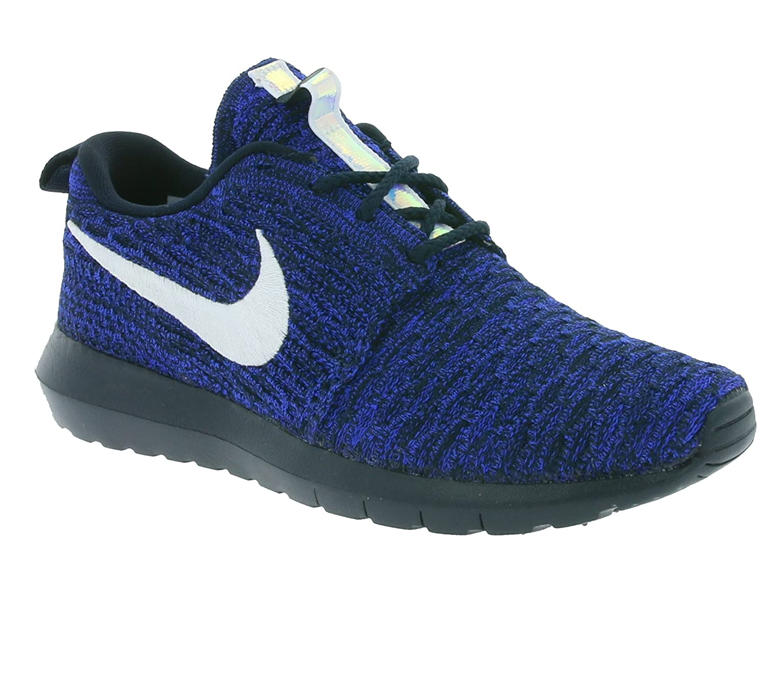 NIKE Womens Roshe One Flyknit Flyknit Colorblock Running Shoes B01ITYG89K 36.5 M EU|Blau