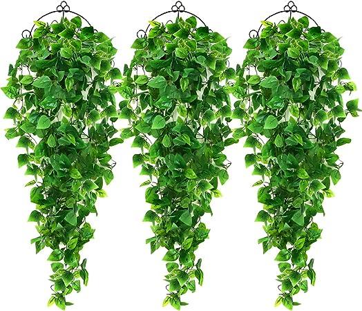 AGEOMET 3pcs Artificial Hanging Plants