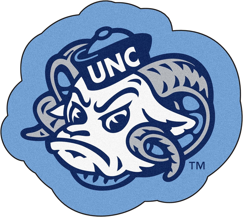 FANMATS NCAA UNC University of North Carolina - Chapel Hill Tar Heels Nylon Face Mascot Rug
