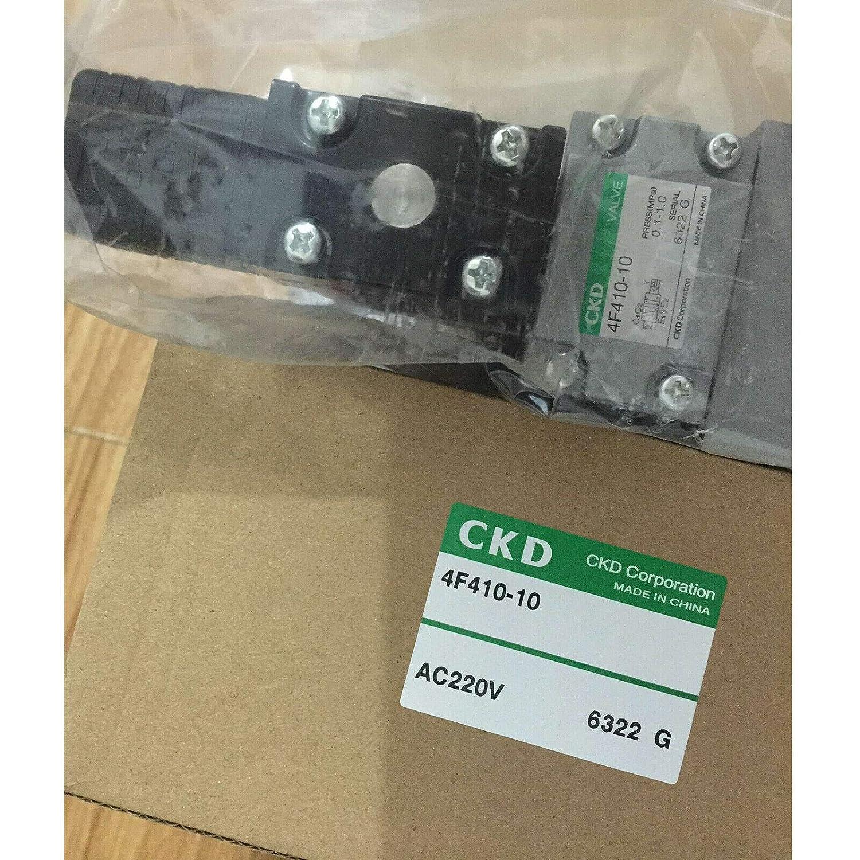 One Year Warranty! CKD Solenoid Valve 4F410-10 AC220V,New in Box