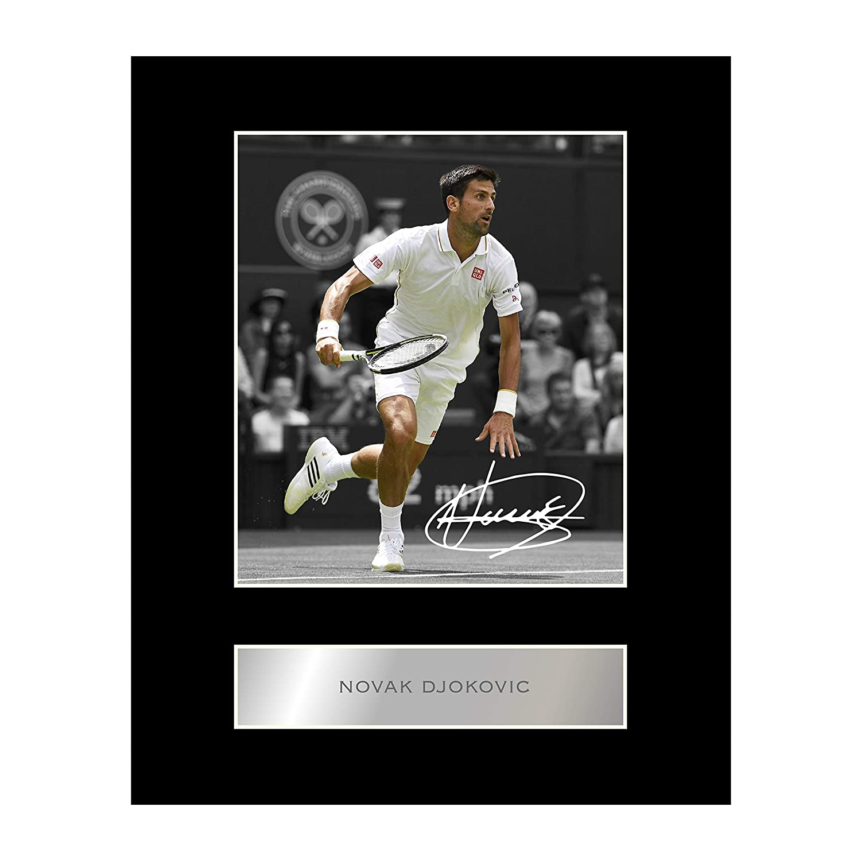 Novak Djokovic Photo dédicacée encadrée Iconic pics