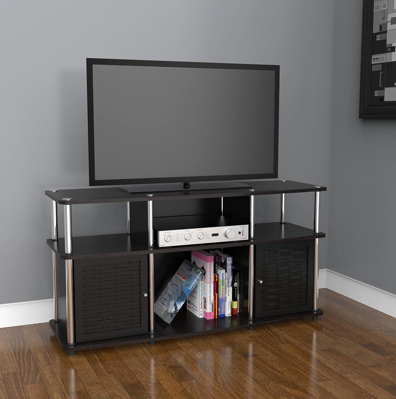 Tv Stand Black Amazoncom Convenience Concepts Designs2go Modern Chelsea Tv
