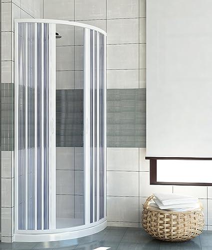 PVC extensible de ducha apertura central semicircular de la puerta ...