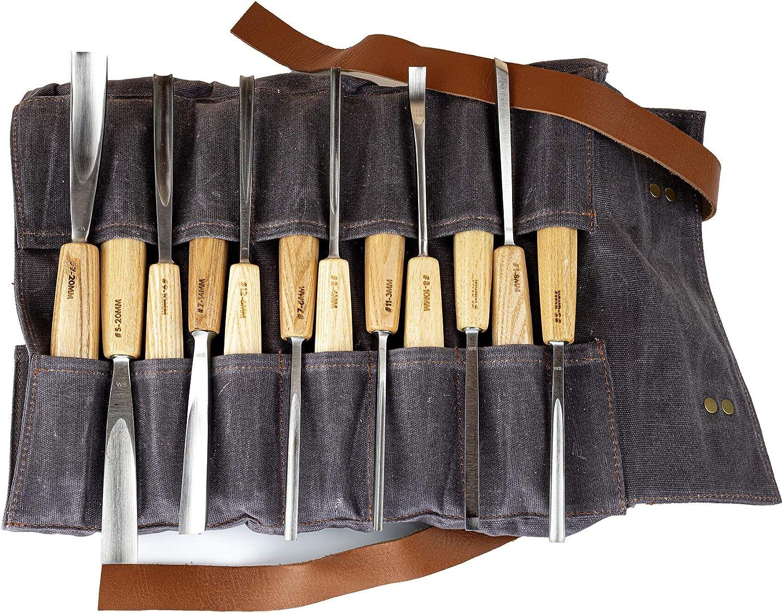 cuchillo para tallar virutas cuchillo para tallar juego de 12 herramientas de talla de madera para tallar carpinter/ía afilador de cuchillos para cuchara taz/ón