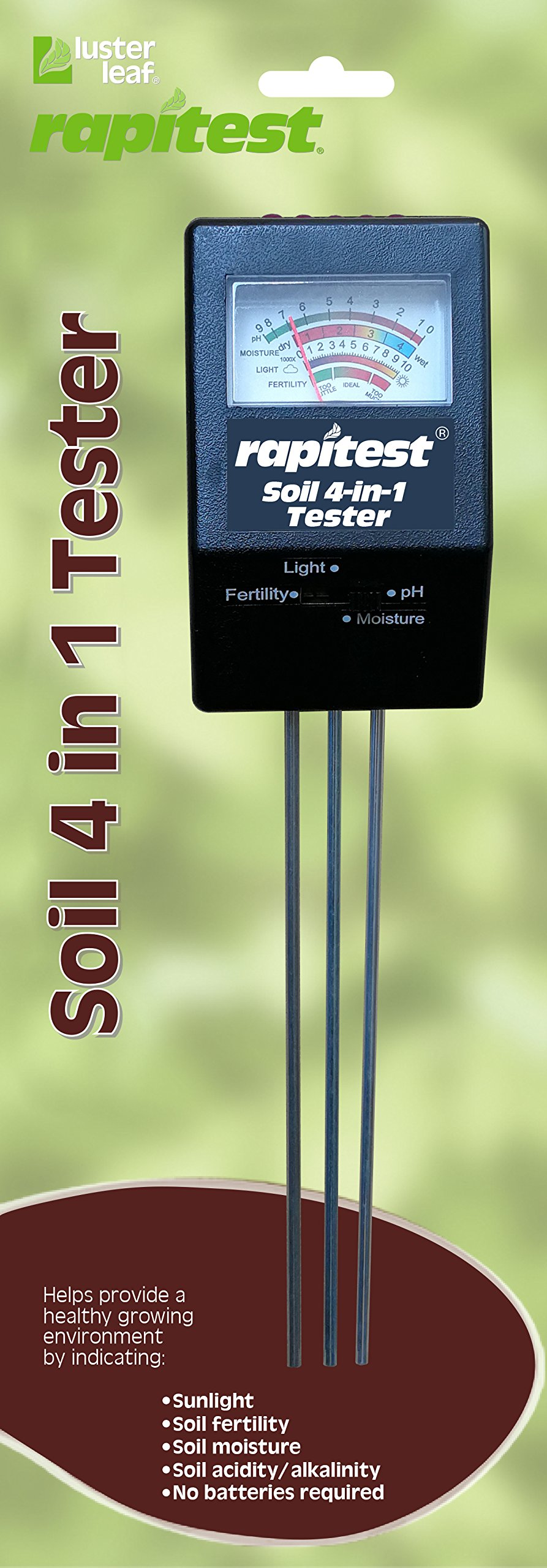 Luster Leaf 1818 Rapitest Mini 4-in-1 Soil Tester