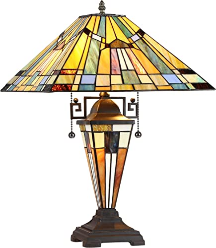 Chloe CH33293MS16-DT3 Kinsey Tiffany-Style Table Lamp