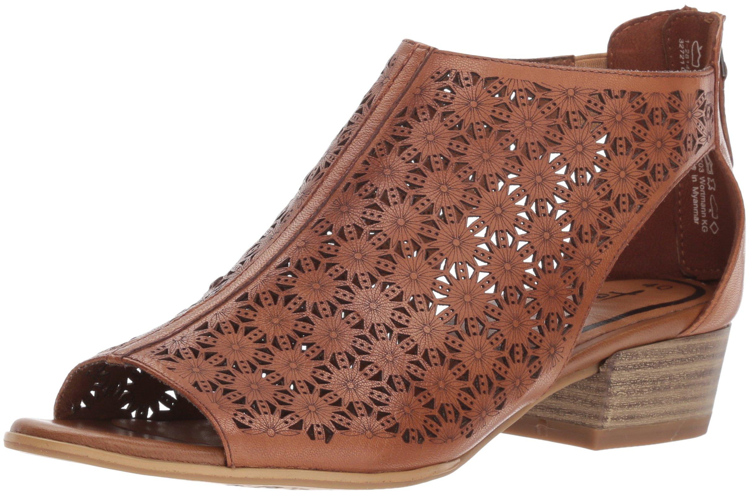 Tamaris Women's Nao 28140 Oxford Flat, Cognac, 39 Medium EU (8.5 US)