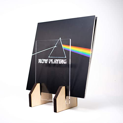 Record display stand Now playing