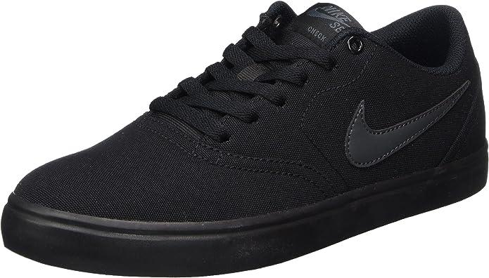Nike SB Check Solarsoft Sneakers Skateboardschuhe Herren Schwarz