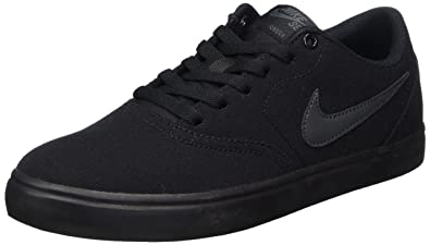 f42c8bcc6112 Image Unavailable. Image not available for. Color  Nike Men s SB Check  Solarsoft Canvas Skate Shoe Black Anthracite 13