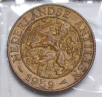 1959 Netherlands Antilles 2-1//2 Cents