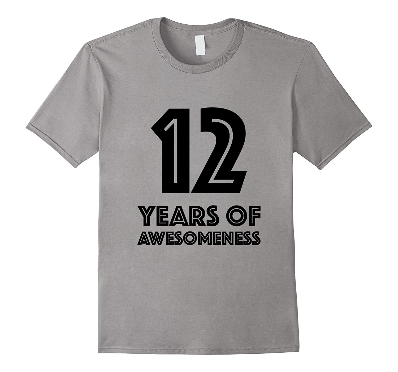12th Birthday Shirt Gift Age 12 Twelve Year Old