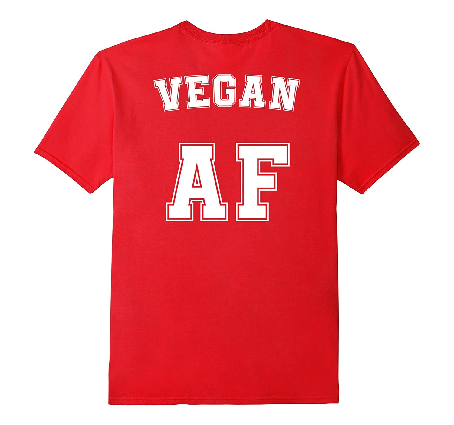 Funny Vegan AF T-Shirt Vegetarian Sports Team Jersey Style-FL