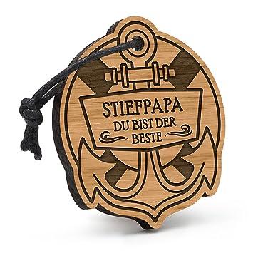 Tochter Schlüsselanhänger Anker Herz aus Holz Gravur Geburtstag Geschenk Idee