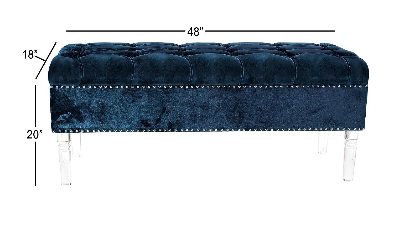 Super Amazon Com Deco 79 33615 Storage Bench Teal Gray Home Ibusinesslaw Wood Chair Design Ideas Ibusinesslaworg