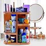 Refine 360 竹制化妆品收纳架,多功能收纳车,适用于您的洗脸、浴室、衣柜、厨房、桌面、台面和桌子