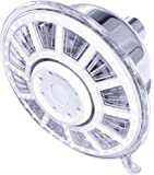 Luxury Chrome LED Shower Head - High Pressure - 3 Color Changing Water Temperature Sensor - No Batteries Required - Wall Mounted - By Utopia Home (Small LED)