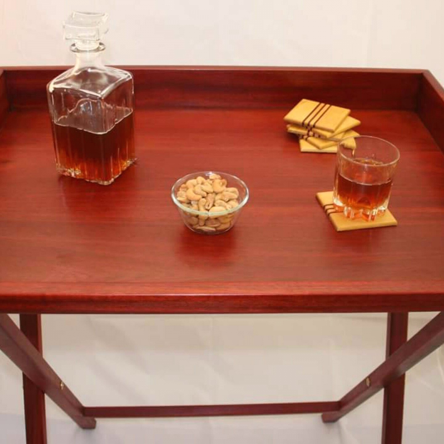 Amazon Butler Tray Stand Red Bloodwood Coffee Table With