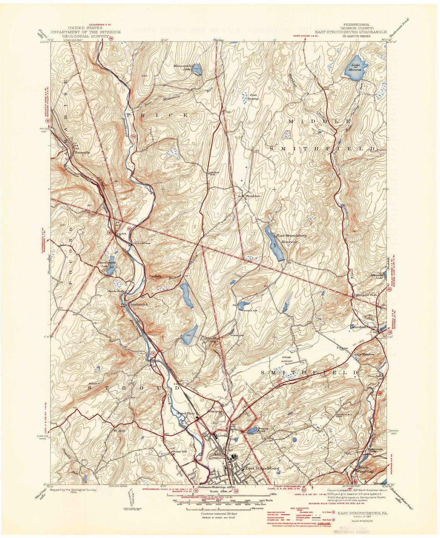 Amazon.com : YellowMaps East Stroudsburg PA topo map, 1 ...