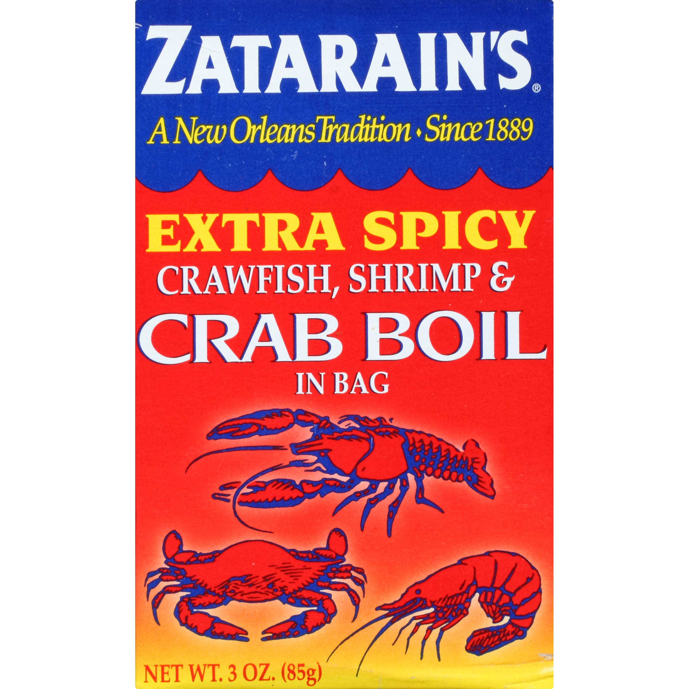 Zatarain's Extra Spicy Crab Boil, 3 Ounce (Pack of 6)