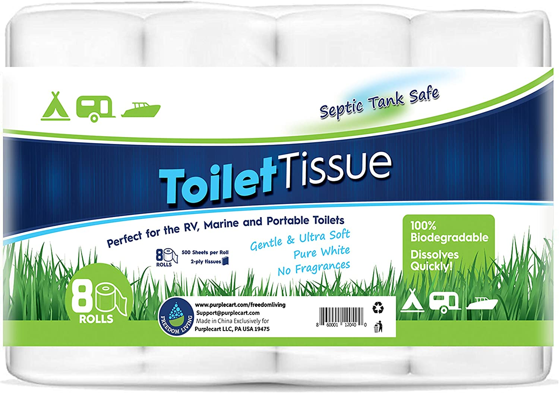 Freedom Living Septic Tank Safe Toilet Tissue