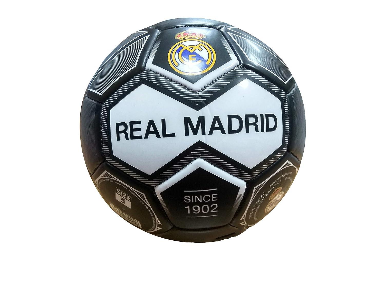 REALMADRID Real Madrid Bal/ón de f/útbol Unisex ni/ños Negro Talla 5