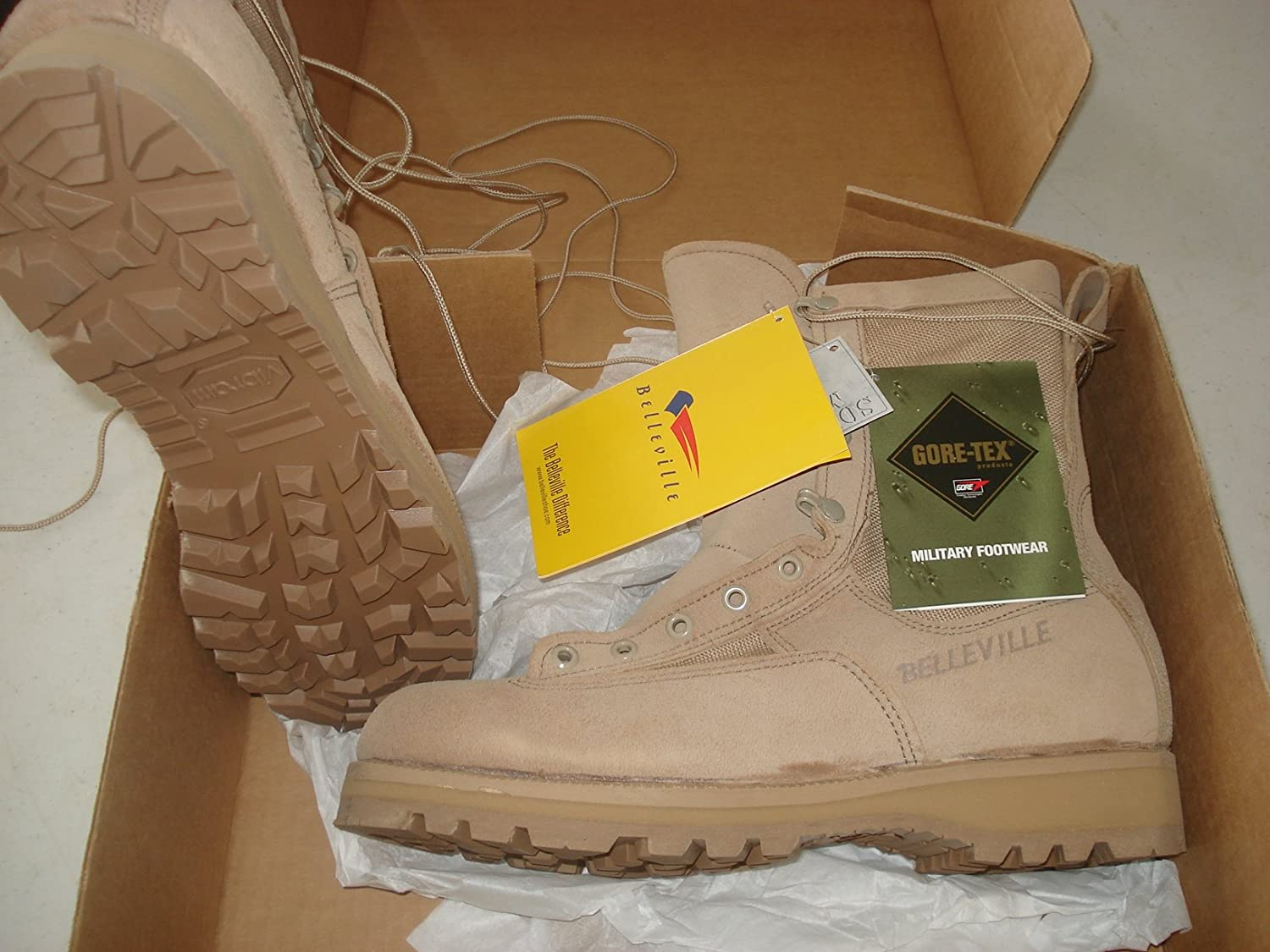 Belleville New Made in US 790 G GI Desert Tan Military Army Combat Waterproof Goretex Temperate Flight Boots 790G