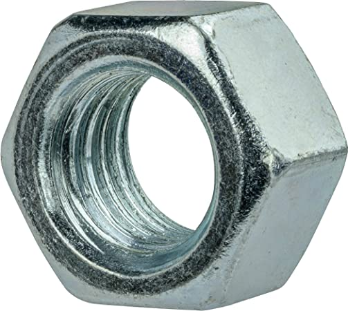 """50 pk. 7//16/""""-14 Grade 5 Zinc Plated Finish Carbon Steel Hex Nuts"""