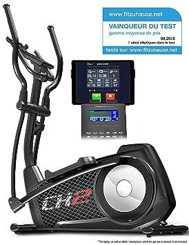Sportstech CX2 – Bicicleta elíptica Ergómetro con control por aplicación Smartphone, peso de inercia 27