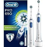 Oral-B PRO 690 Elektrische Zahnbürste für eine gründliche Reinigung, mit 2. Handstück, weiß