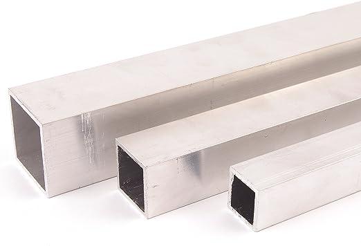 Aluminium Quadratrohr Aluprofil Vierkantrohr ALMgSi0,5 F 22 Oberfl/äche blank gezogen Abmessungen 15x15x2 mm L/änge 1000 mm