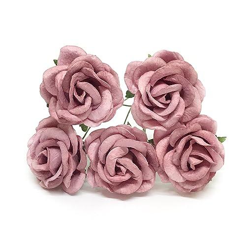 Amazon 15 Mauve Paper Flowers Mauve Paper Rose Purple Paper
