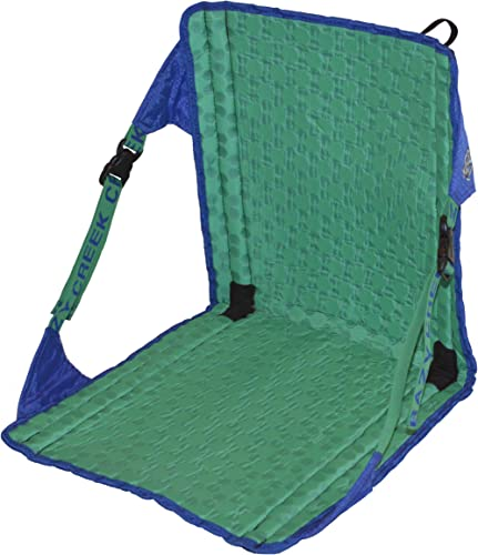 Crazy Creek Products HEX 2.0 Original Chair Royal Blue Emerald Green – Lightweight and Packable Camp Chair for Hiking, Backpacking, Camping, Boating and Stadium use