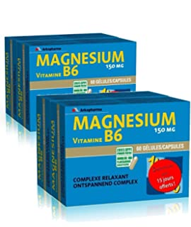 Arkopharma Magnésium B6 Lot de 4 x 60 Gélules