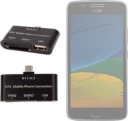 DURAGADGET Lector De Tarjetas para Smartphone Motorola Moto G5 ...