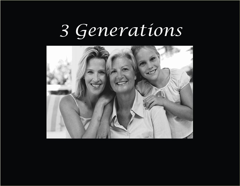 Infusión Regalos 3047SB 3047SB 3047SB grabado marco de fotos, 3 generaciones, Negro 94837c