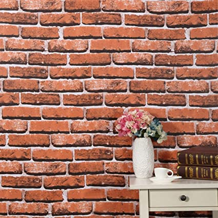 Amazon Faux Red Brick Pattern Contact Paper Shelf Liner Self Extraordinary Brick Pattern Paper