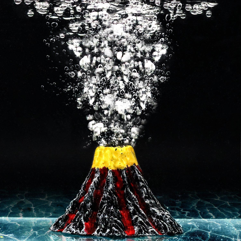 Aquarium Decor Small Air Bubble Stone Volcano Oxygen Pump Resin Crafts for Aquarium Fish Tank Ornament Decoration