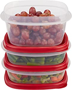 Rubbermaid Easy Find Lids Food Storage Containers, Racer Red, 6-Piece Set 1777166P