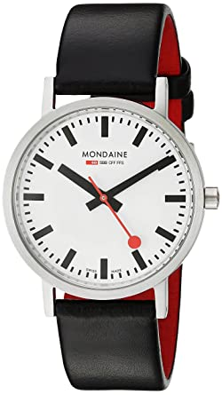 Amazon.com  Mondaine Men s A660.30314.16SBB Quartz Classic Leather ... 23e7c2de52