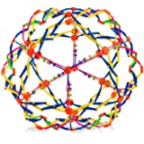 4E's Novelty Expandable Ball - Breathing Ball | Stress Reliever Fidget Toy (Colors May Vary) - for Yoga, Anxiety, Deep…