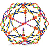 4E's Novelty Expandable Ball - Breathing Ball | Stress Reliever Fidget Toy (Colors May Vary) - for Yoga, Anxiety, Deep Breathing, ADHD - Expanding Sphere from 5.6″ to 12.5″ | for Kids & Adults